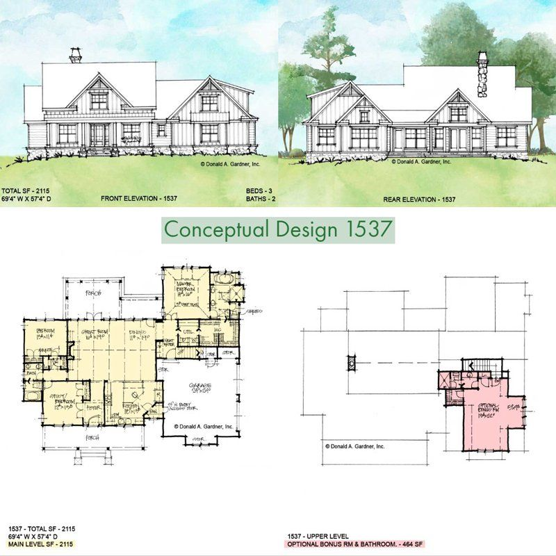 Classic small farmhouse plan