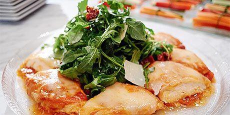 Warm chicken parmesan salad recipe parmesan salad and food porn forumfinder Gallery