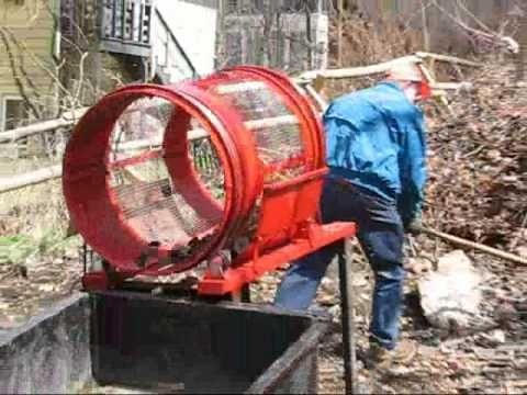 Homemade trommel-type motorized compost mixer/aerator, or sifter for soil or gravel