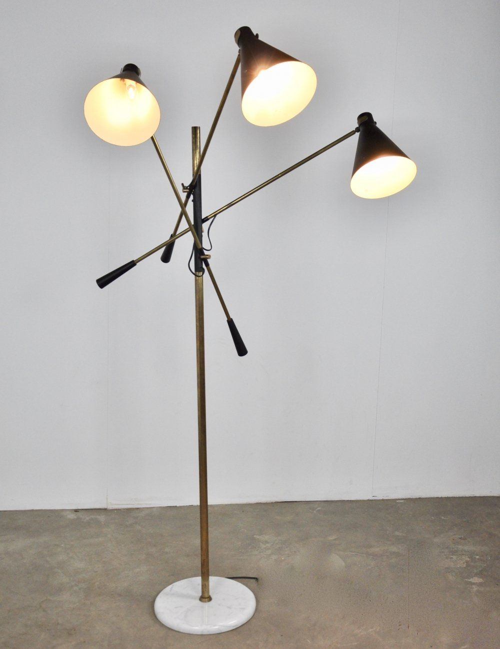 For Sale Adjustable 3 Arm Floor Lamp By Stilnovo 1950s Arm Floor Lamp Lamp Floor Lamp