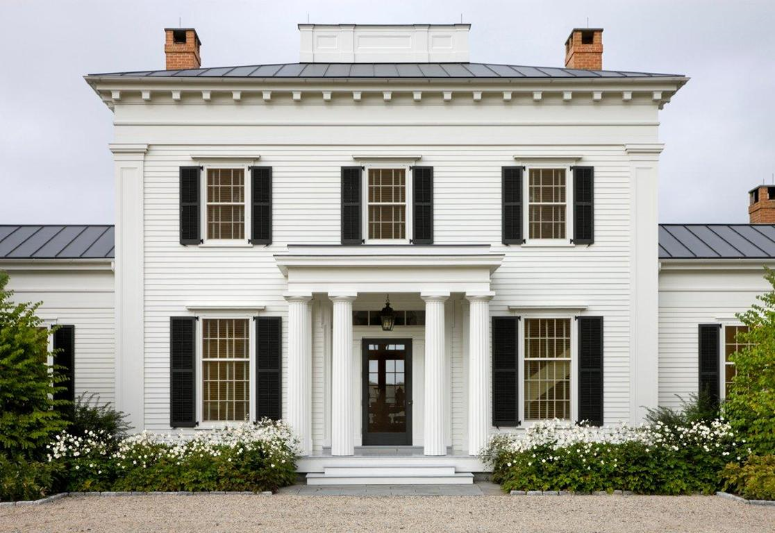 stair runner by Stark   The front façade of the Hudson Valley home ...