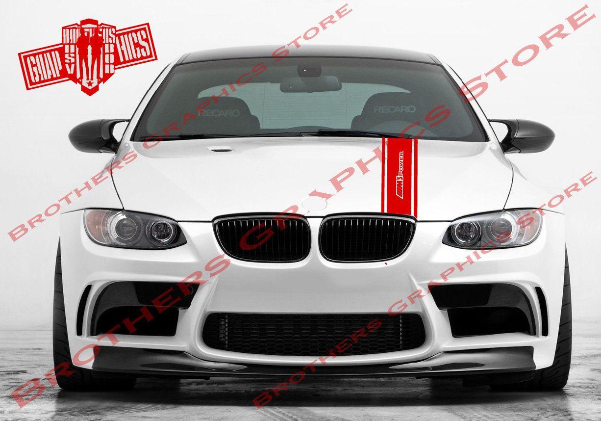 Bmw M3 3 Series Hood Stripes Vinyl Hood Decal Sticker Graphics Etsy Bmw Bmw M3 Vinyl Car Stickers