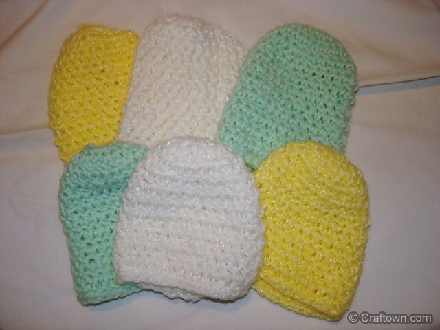 Free Crochet Pattern - Preemie Snuggles Cap. Sweet little caps for ...