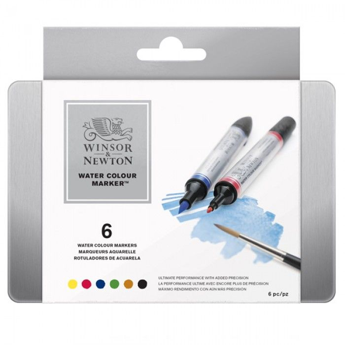 Winsor And Newton Watercolour Markers Set Of 6 Water Color