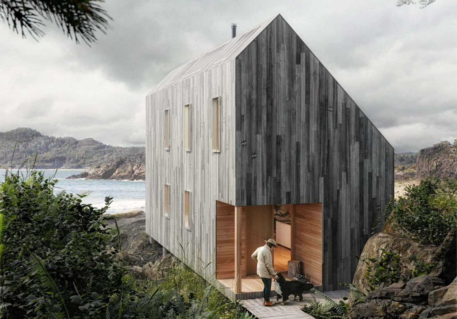 Affordable Flat Pack Surf Shack Shelter Operates Completely Off The Grid