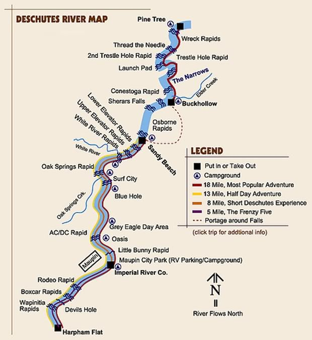 Trip - Deschutes River...this brings back some good memories ... Deschutes River Map on
