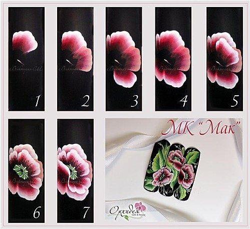 Bilderesultat for nail art one stroke - Bilderesultat For Nail Art One Stroke Nails Pinterest Ongles