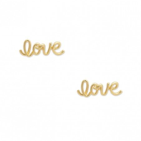 dainty 'love' studs