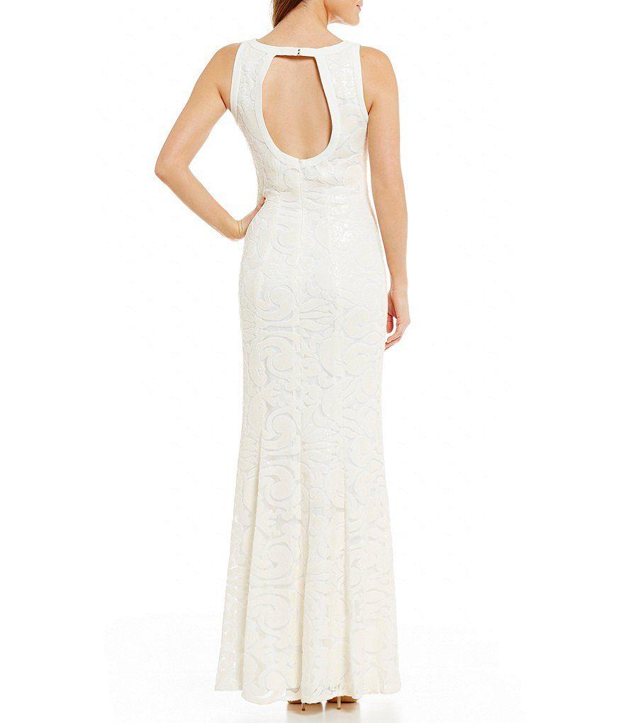 Belle Badgley Mischka Neveah Sequined Dress | Presentation Dresses ...