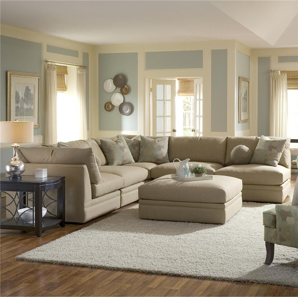 Melrose Place Four Piece Sectional With Two Corner Chairs By Klaussner Wolf Furniture Sofa