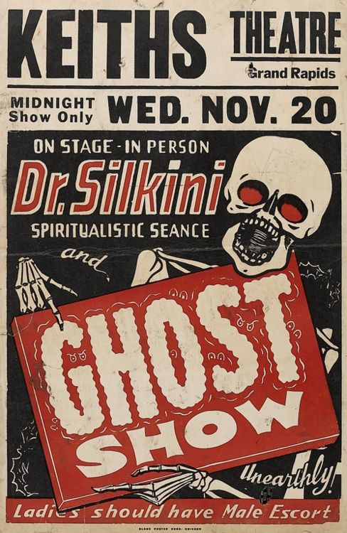 vintage Ghost Show poster from Grand Rapids Mi Creepy Pinterest - halloween poster ideas