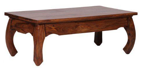 Tisch design  WOHNLING Couchtisch Massiv-Holz Sheesham 110 cm breit Wohnzimmer ...