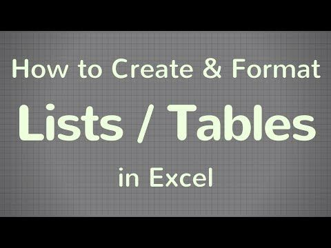 Excel table function Short video tutorial to help you learn how to - Create A Spreadsheet In Excel