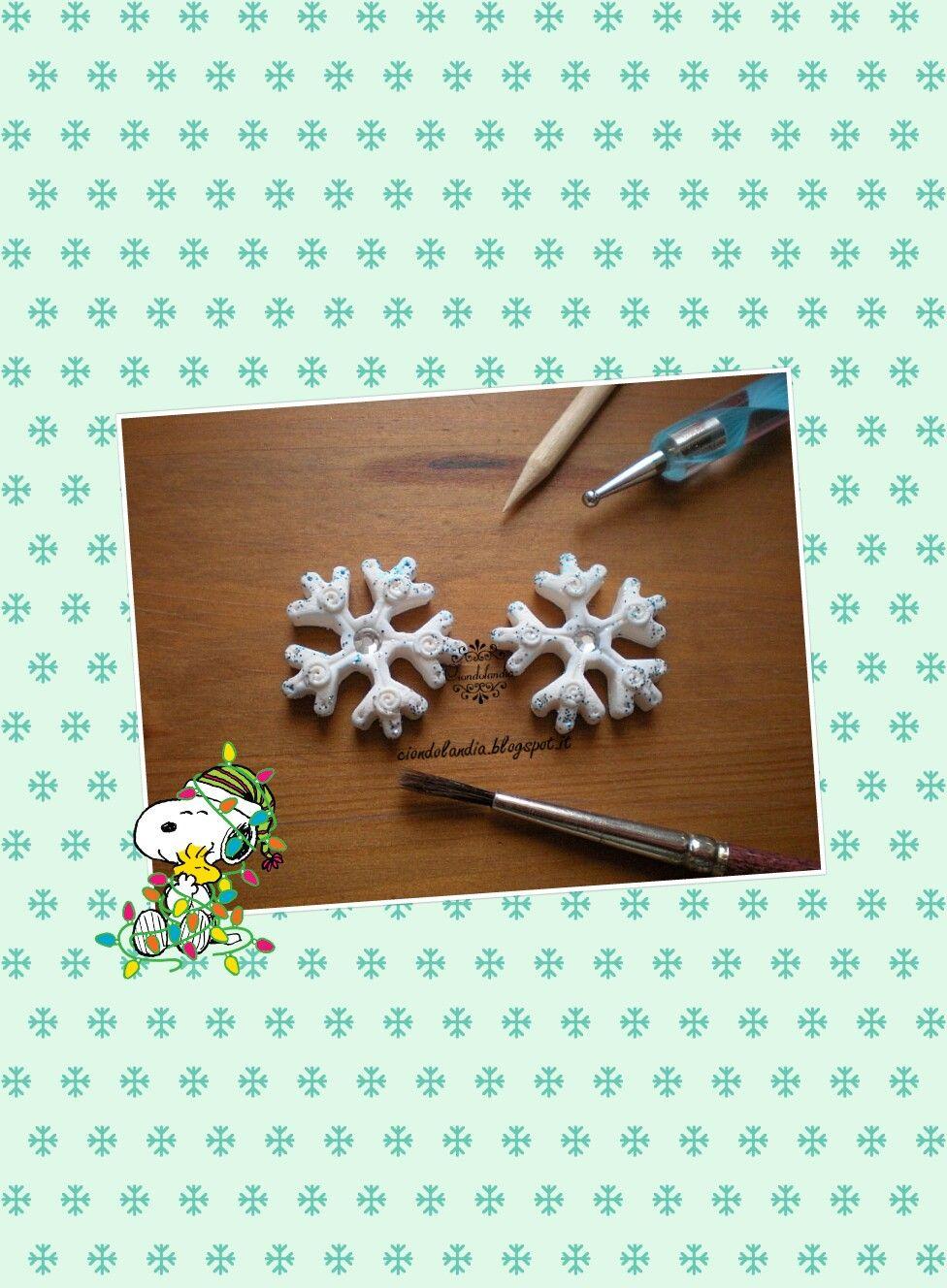 #snowflake #natale #fimo #fioccodineneve #christmas