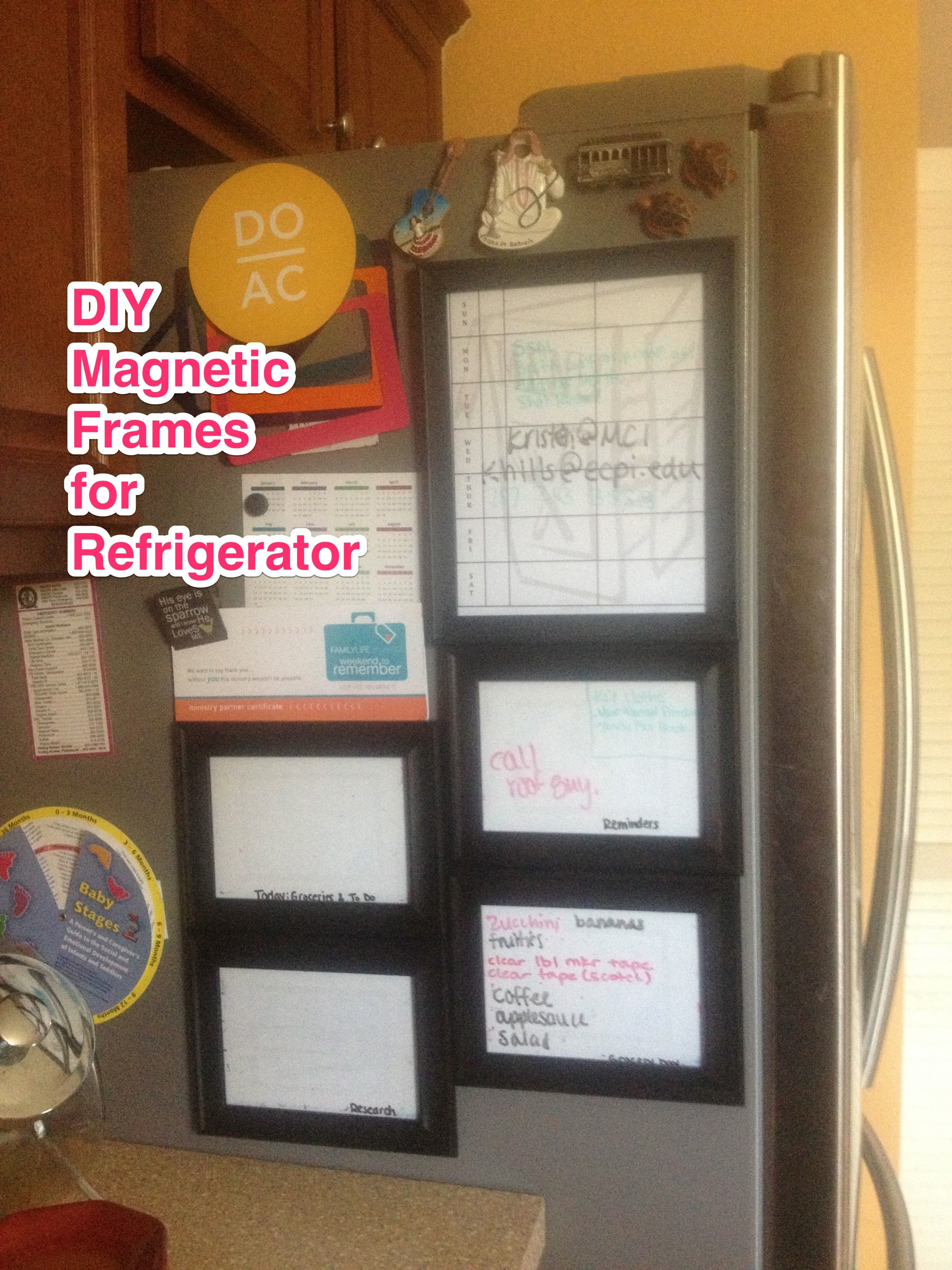 DIY – Magnetic Frames for refrigerator | Pinterest | Magnetic frames ...