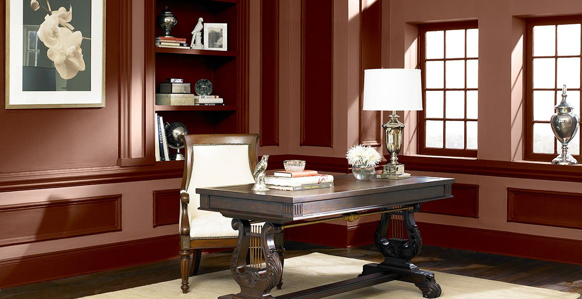 sonara rose office Home- Color schemes Pinterest Red paint