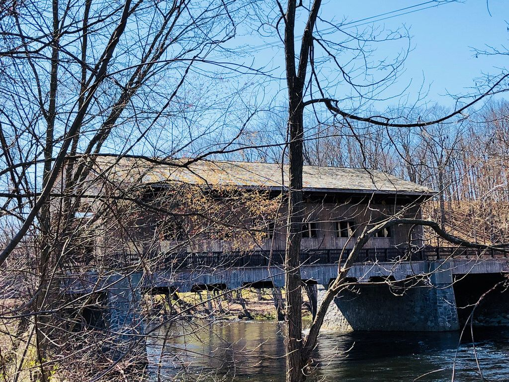 Covered Bridge Pepperell Photograph by Larry Richardson