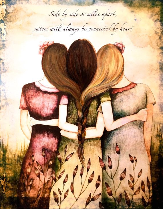 Side By Side Or Miles Apart Sisters Will Always Be Connected By Heart