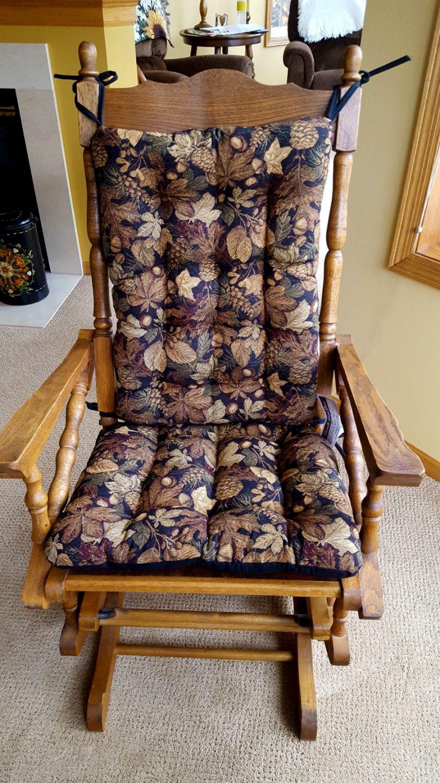 Woodlands Forest Floor Rocking Chair Cushion Set Oak