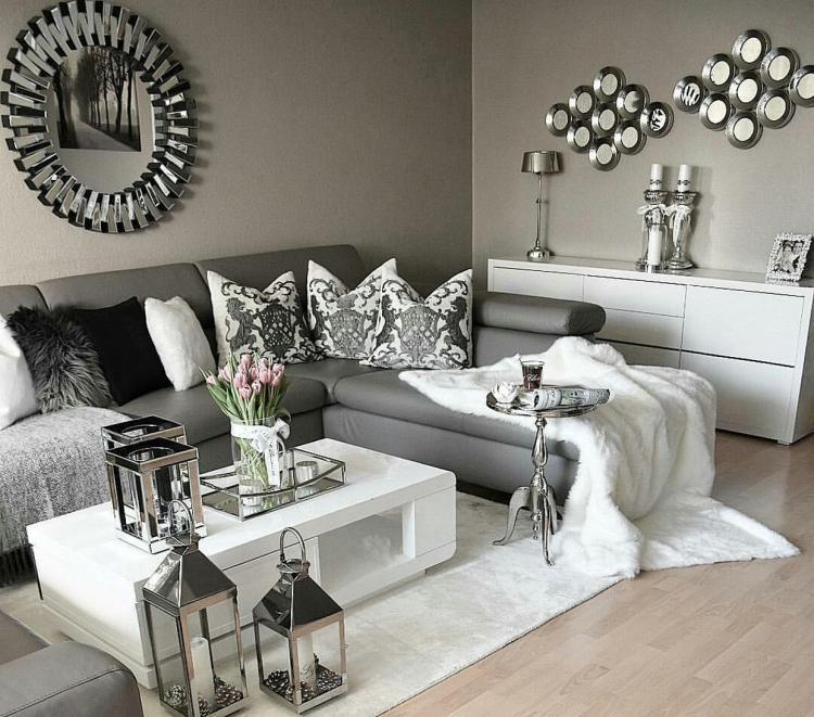 110 Fabulous Dark Grey Living Room Ideas To Inspire You With Images Dark Grey Living Room Black Living Room Living Room Decor Gray #silver #and #black #living #room #ideas
