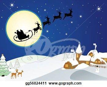 Winter Holiday Clip Art | ... Illustration - Winter scene ...