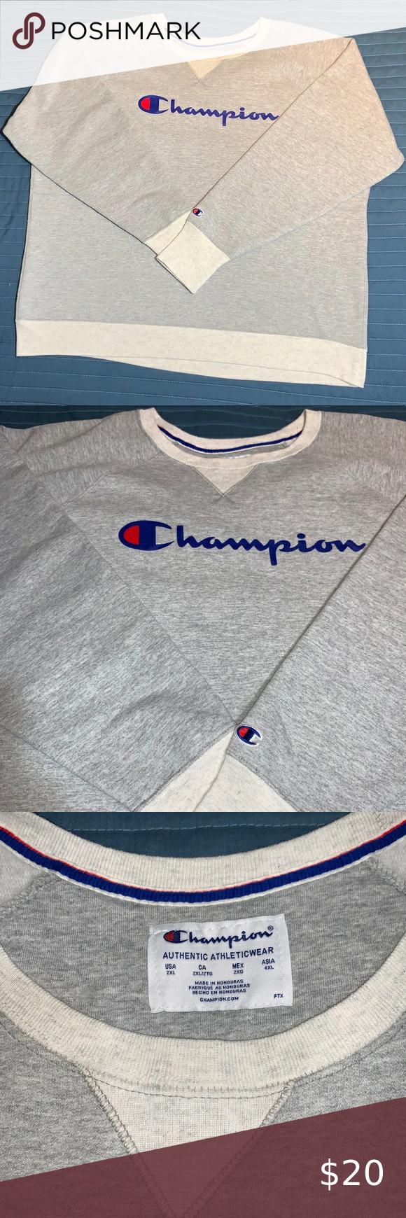 Women S Champion Boyfriend Crew Sweatshirt In 2020 Crew Sweatshirts Grey Sweatshirt Sweaters For Women [ 1740 x 580 Pixel ]