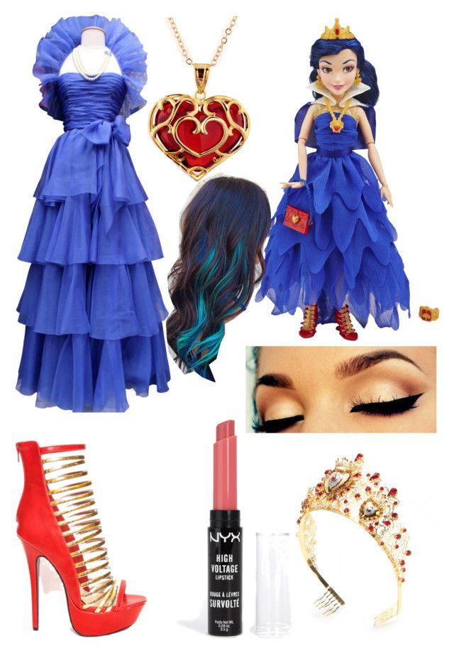 """Evie coronation look."" by blackwidowajlee ❤ liked on Polyvore featuring moda, Jean-Louis Scherrer, Dolce&Gabbana i NYX"