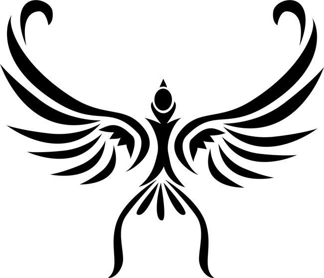 Soaring Bird Tribal Tattoo Stencil Patio Ideas Tribal