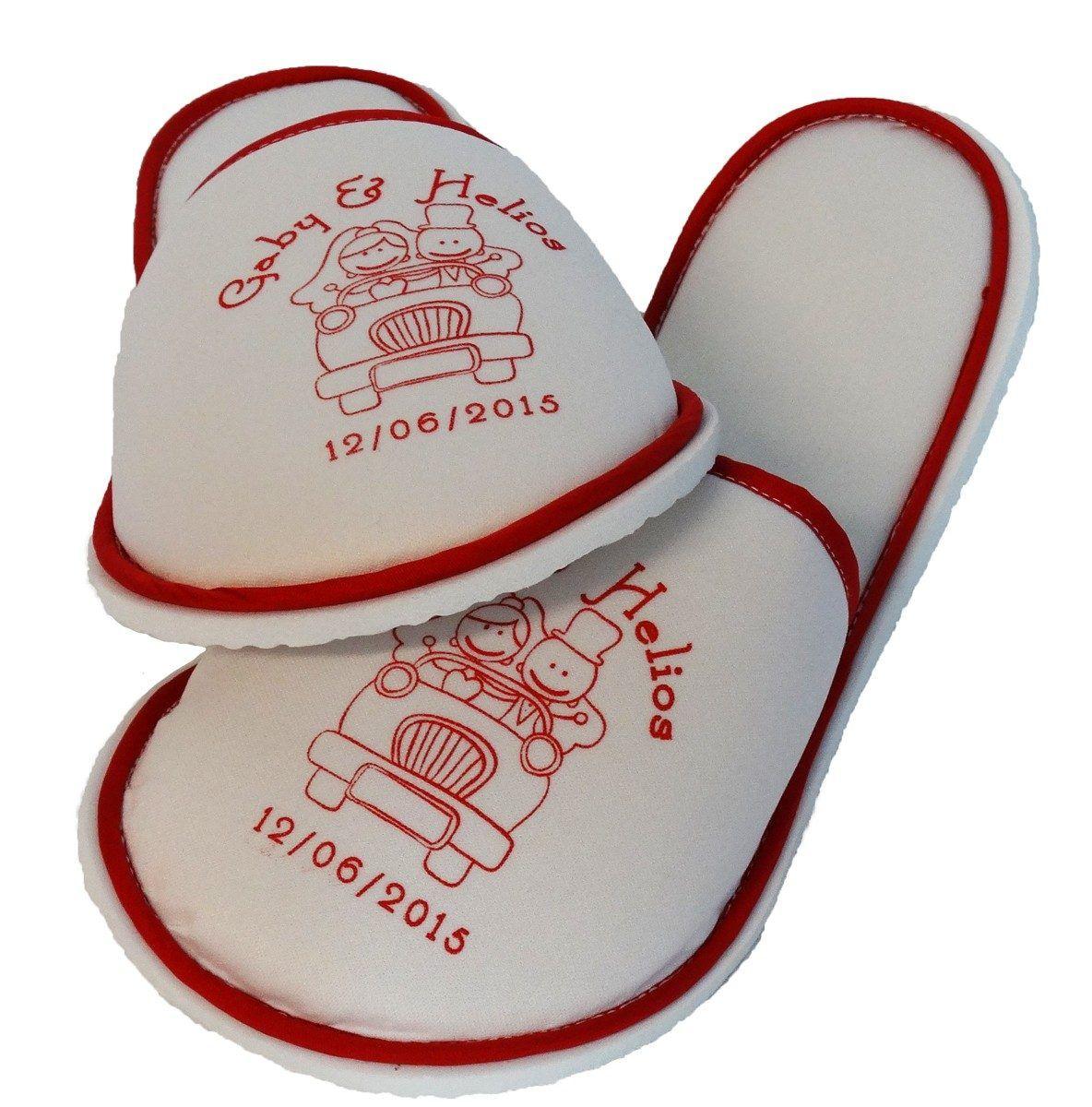 Paquete De 50 Pantuflas Personalizadas Bodas Xv Años Y Even - $ 1,500.00 en MercadoLibre