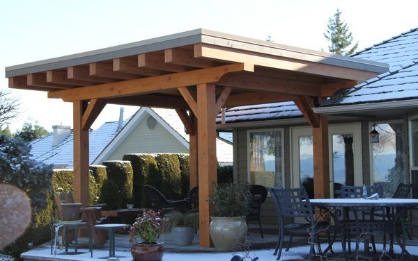 Doesn T Seem To Totally Connect To House The Architecture Of The Covered Portion Is Interesting Covered Porch Porch Patio Pergola Patio