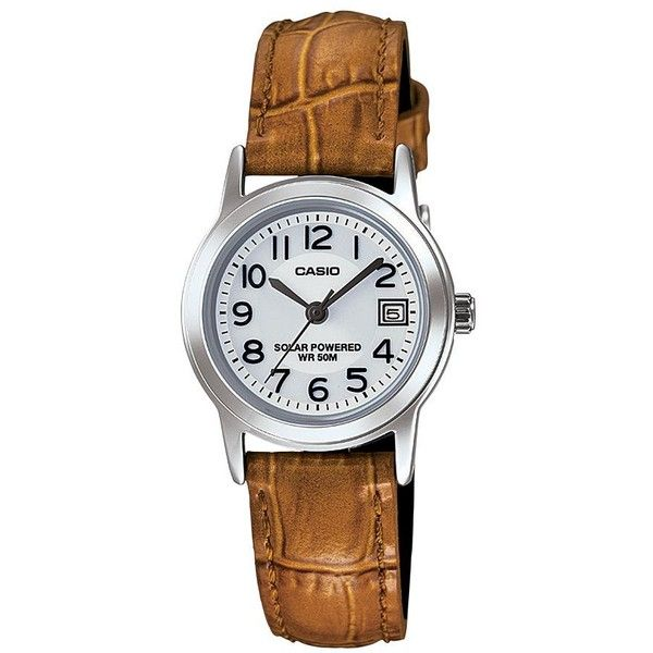 8972250f369a Casio Women s Classic Leather Solar Watch (€43) ❤ liked on Polyvore  featuring jewelry