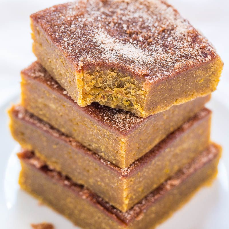 This is the dessert trifecta jackpot. Three favorites in one. Soft pumpkin bars, cinnamon-sugary snickerdoodles, and buttery blondies rolled into one easy recipe. Lately I've been going nuts with pumpkin recipes, snickerdoodle recipes, and I've got 25+ blondies recipes and counting. It was high time to marry my favorites. The bars are super soft, moist, …