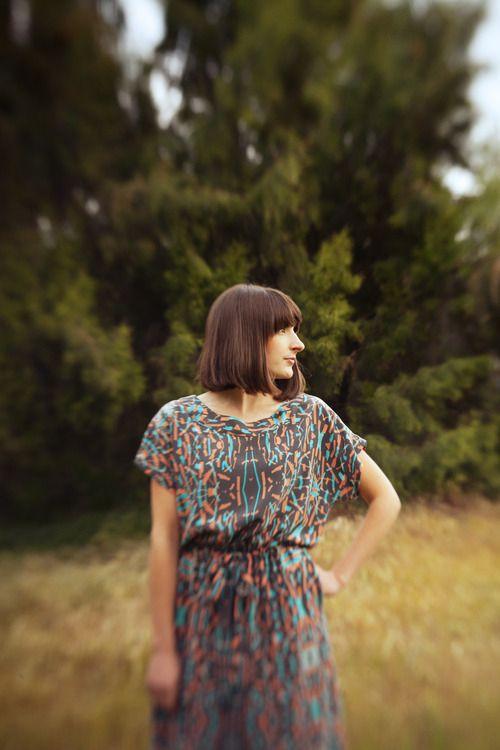 Magic Marker Print Dress. Myrtle Spring Lookbook. Photographed by Lauren Randolph.