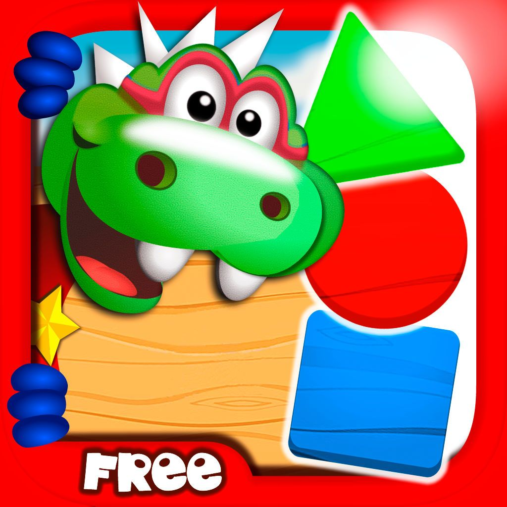 FREE APP ALERT! Dino Tim: Learning games about colors, shapes and ...