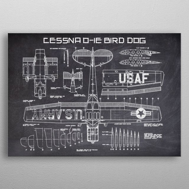 CESSNA OIE BIRD DOG by FARKI15 DESIGN | metal posters - Displate | Displate thumbnail