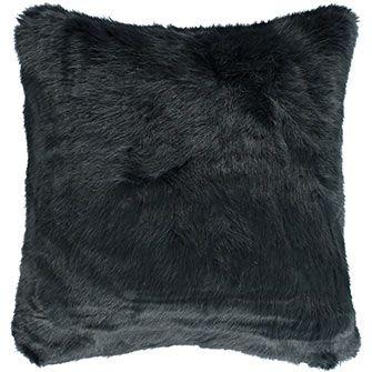 Paoletti Grey Faux Fur Cushion Fur Cushion Cushions Faux Fur