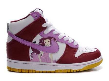 Nike Dunk High Womens Custom Manga Girl Shoes