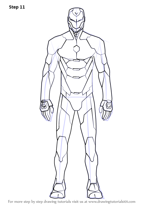Learn How To Draw Iron Man Suit Iron Man Step By Step Drawing Tutorials In 2020 Iron Man Drawing Superhero Coloring Pages Iron Man Suit