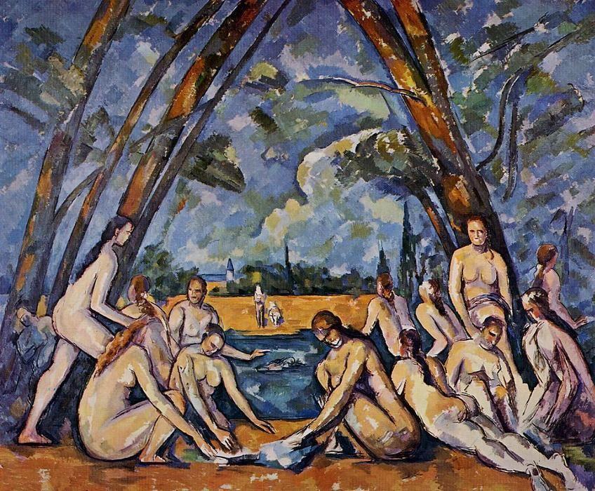 Resultado de imagen para paul cézanne les grandes baigneuses