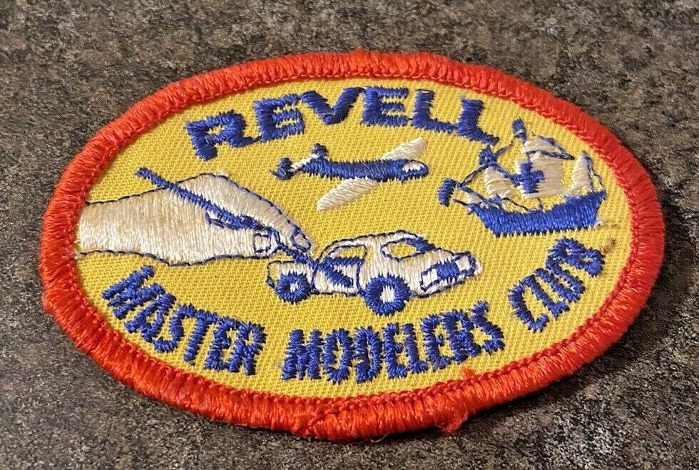 Vintage REVELL Master Modelers Club Patch-yellow-navyblue-red rim-Car-Plane-Boat #Revell