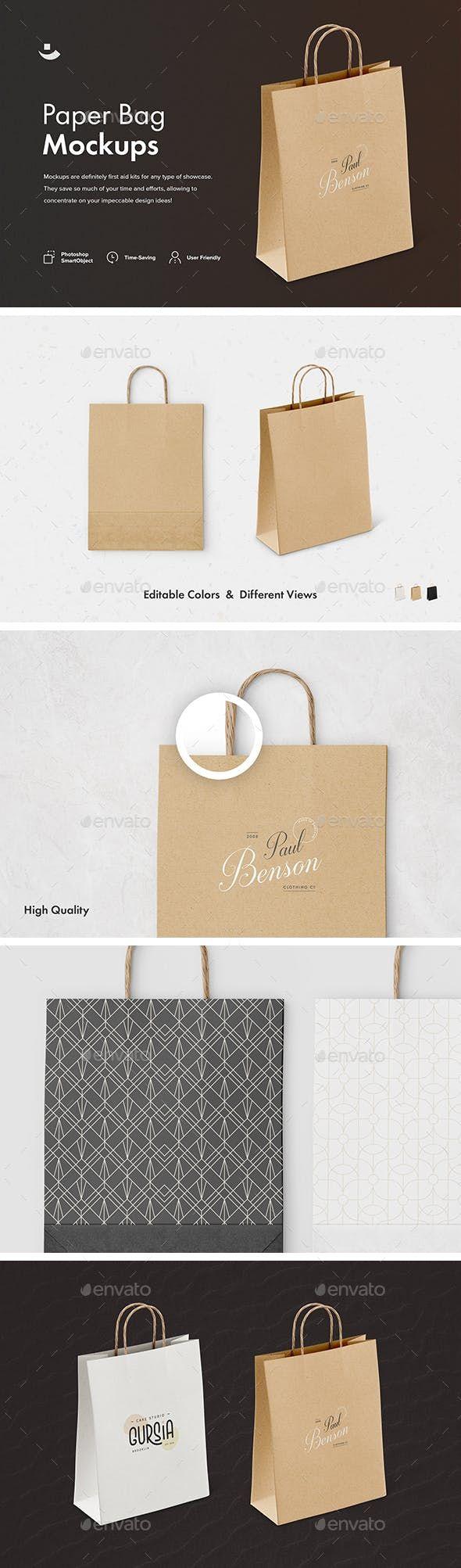 Download Paper Bag Mockup Set Packaging Product Mock Ups Download Link Https Graphicriver Net Item Paper Bag Mockup Set 23319505 Ref Klitvogli