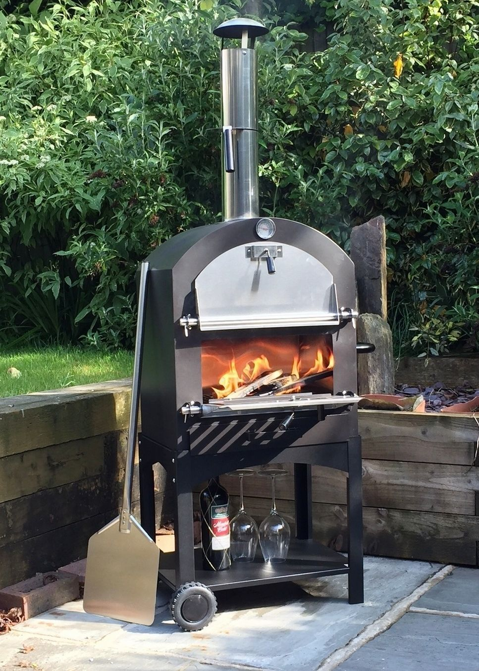 cove outdoor pizza oven bbq smoker stainless steel oven
