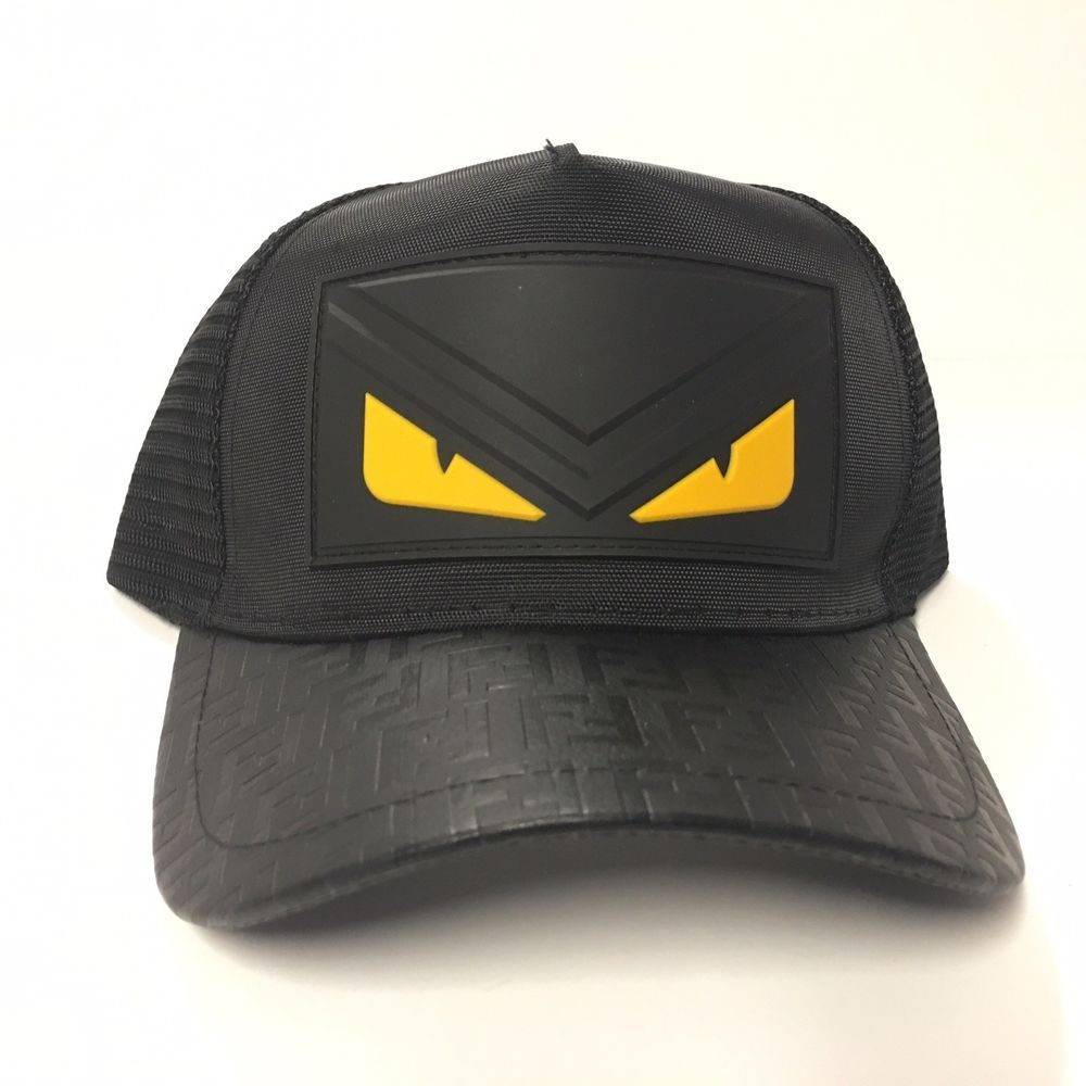 Fendi Monster Snap Back Cap  Color  Black w Yellow Eyes) Brand New With  Tag   fashion  clothing  shoes  accessories  mensaccessories  hats (ebay  link) d65256654c5b