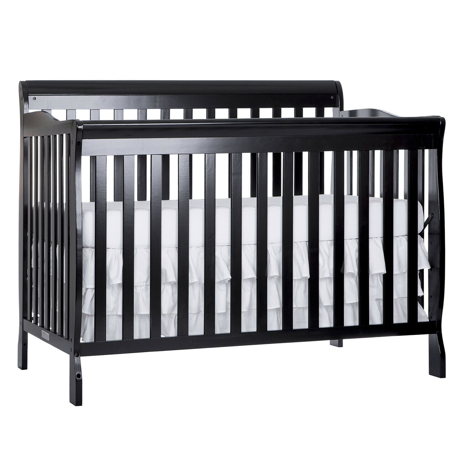 Convertible Baby Bed 5 In 1 Full Size Crib Black Nursery Bedroom Furniture New Baby Bed Babybed In 2020 Convertible Toddler Bed Cheap Toddler Beds Best Baby Cribs