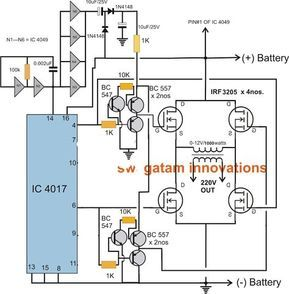 Pwm Sinewave 5kva Inverter Circuit Circuits Pinterest Circuit