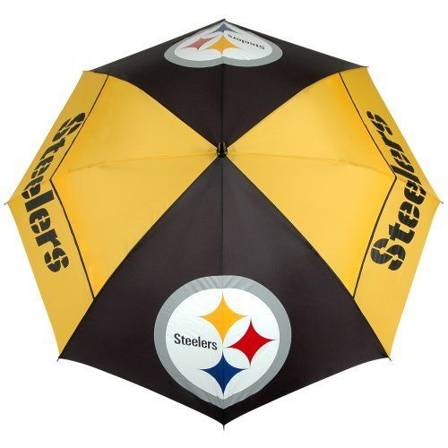 Pittsburgh Steelers Windsheer II Umbrella by McArthur. $36.15. -1. Patented Wind-Release System with the oversized logo enhancements. Designed with four single canopy panels and four double canopy panels. Innovative WindSheer Hybrid Umbrella. NFL Pittsburgh Steelers 62-inch WindSheer Hybrid Umbrella. Save 10%!