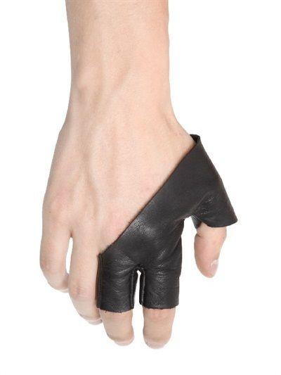 Leather 3 Finger Gloves
