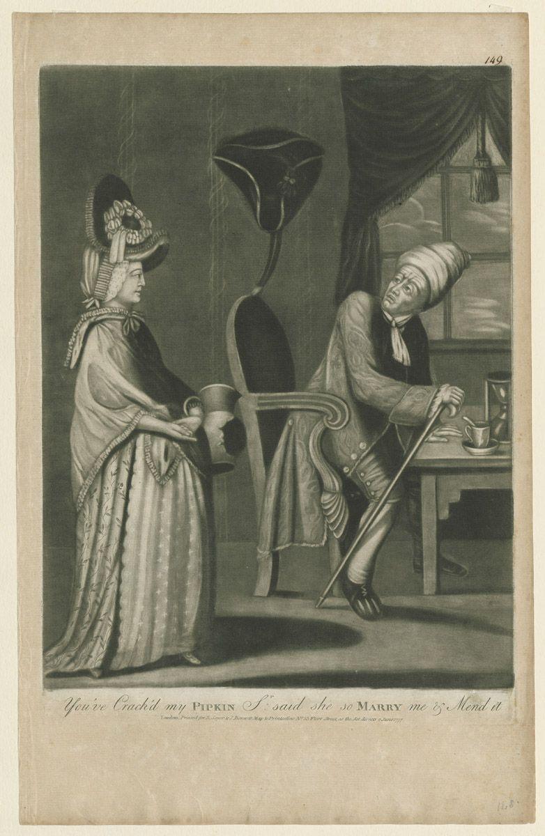 """You've Cracked my Pipkin, Sir"", 1777; Winterthur 1969.2753"