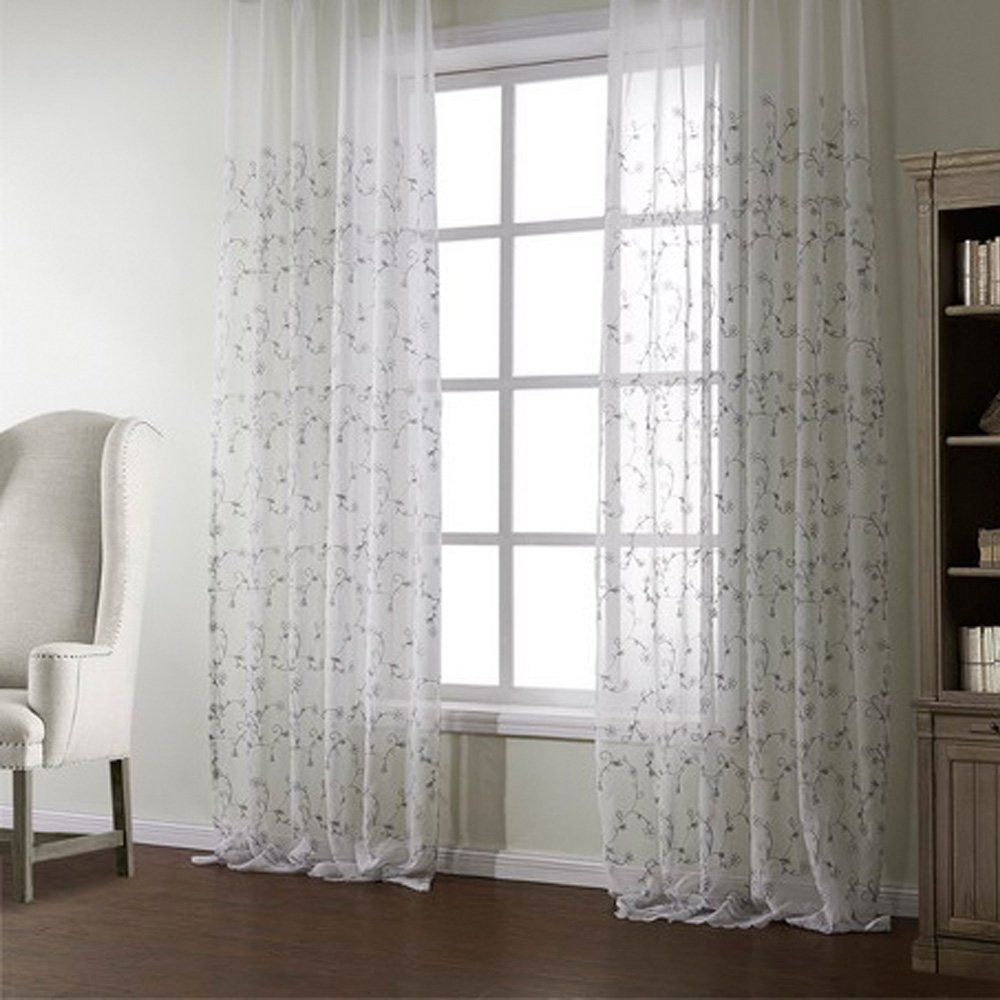 Robot Check Sheer Curtains Curtains Cheap Sheer Curtains