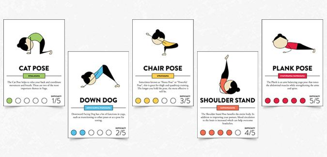 Declarative image within printable yoga cards